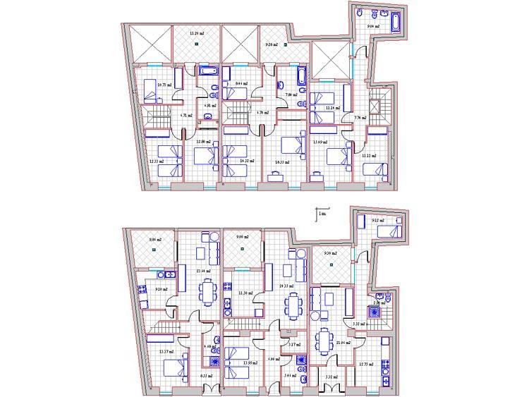 Plano de las viviendas unifamiliares en zafra de venta c for Planos de viviendas unifamiliares